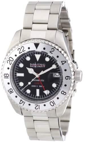 Nautec No Limit Herren-Armbanduhr Deep Sea DS AT-GMTSTSTSLBK