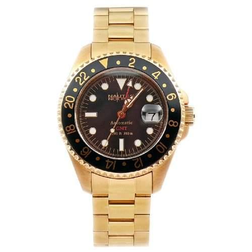Nautec No Limit Herrenarmbanduhr Deep Sea DS GMTGDBK