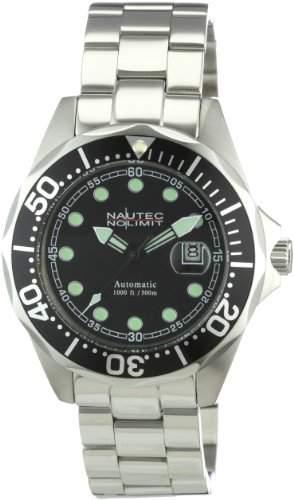 Nautec No Limit Herren-Armbanduhr Deep Sea Bravo Analog Automatik DSB ATSTSTBKBK