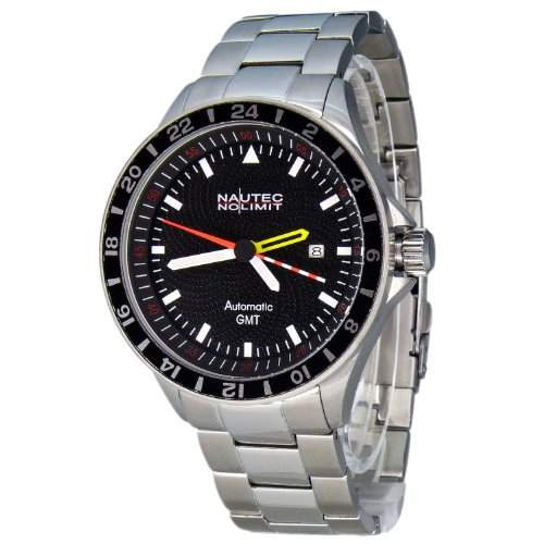 Nautec No Limit Herren-Armbanduhr Mistral 2 MS2 AT-GMTSTSTSTBK