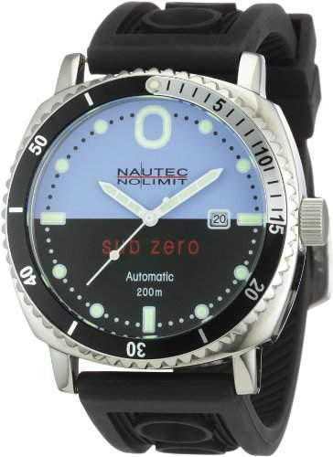 Nautec No Limit Herren-Armbanduhr Sub Zero SZ Analog Automatik ATRBSTSTBKBL