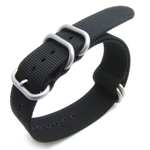 20 mm dick G10 Zulu 5 Ringe Armbanduhr Band schwere Nylon gebuerstet