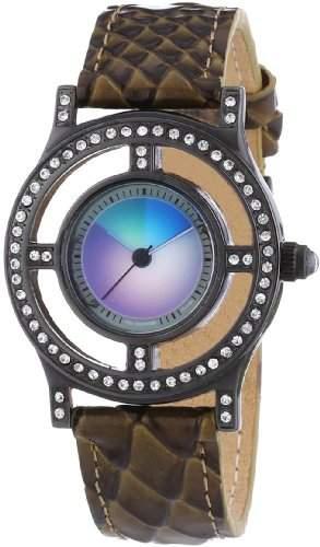 Rainbow e-motion of color Damen-Armbanduhr XS Auralia change Analog Leder AU10PB-PY-ch