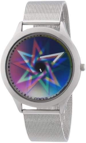 Rainbow e-motion of color Unisex-Armbanduhr Elegance Bodyheat Analog Quarz Edelstahl CIELPS-MBS-pe