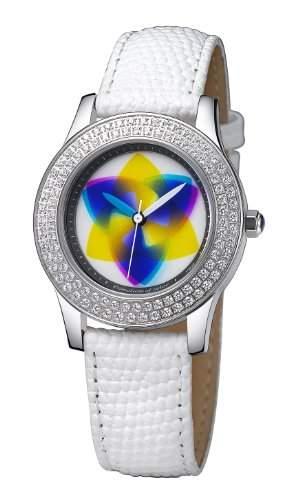 Rainbow e-motion of color Damen-Armbanduhr Elegancia crystal tripod Analog Leder EL47A-WL-tr