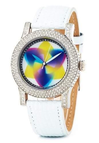 Rainbow e-motion of color Damen-Armbanduhr Exalda tripod Analog Leder EX44-WL-tr