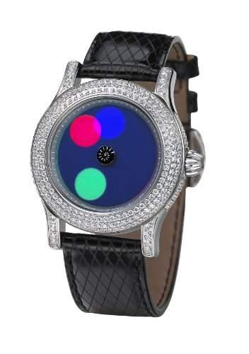 Rainbow e-motion of color Damen-Armbanduhr Extravaganza dot AnalogAutomatik Leder EX44-LB-do