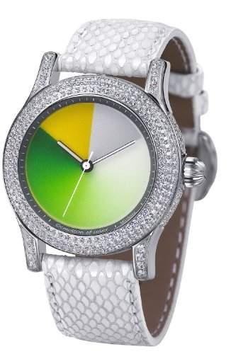 Rainbow e-motion of color Unisex-Armbanduhr Extravaganza monochrome green AnalogAutomatik Leder EX44-SW-MGcl