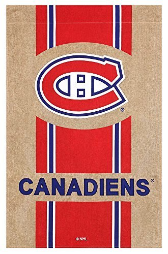 Team Sports America Burlap Montreal Canadiens House Flag 28 x 44 inches by Team Sports America