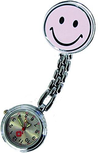 Schwesternuhr Smiley Uhr weiss 3er Set 3 Stueck Tiga Med Krankenschwesteruhr Pulsuhr