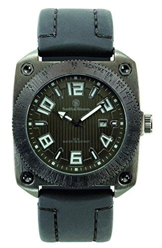 Smith and Wesson Uhren Uhr Flight Deck Datum Gummiband wasserdicht 30 m WEEE Reg Nr DE93223650 76053