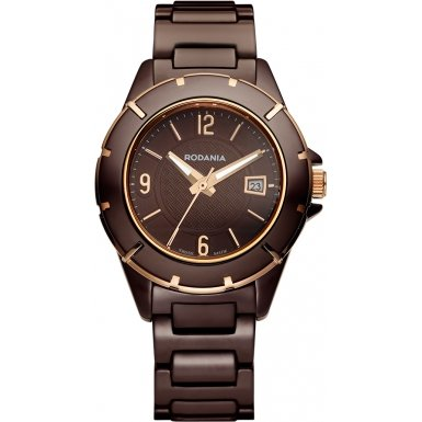 Rodania Swiss Damen Armbanduhr Mystery Analog Quarz Keramik RS2508545