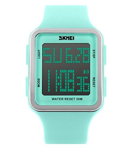 Fissler Maenner SK1167B Outdoor Sport grosse Digital Dial Armbanduhr schwarz wasserdichte Digitalanzeige