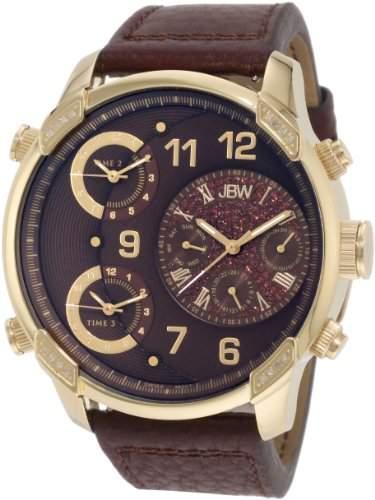 JBW Herren-Armbanduhr XL G4 Analog Quarz Leder J6248LE