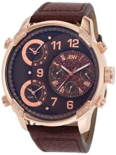 JBW Herren-Armbanduhr XL G4 Analog Quarz Leder J6248LH