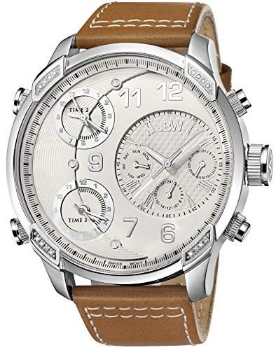 JBW Herren-Armbanduhr XL G4 Analog Quarz Leder J6248LM