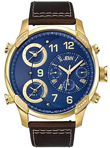 JBW Herren-Armbanduhr XL G4 Analog Quarz Leder J6248LO