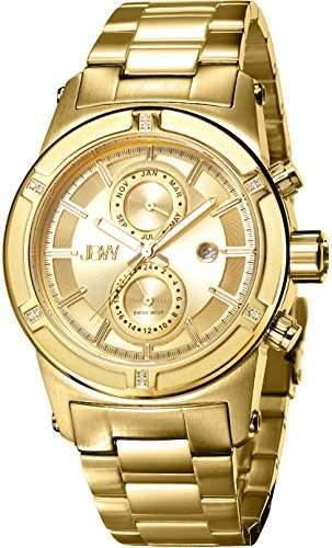 JBW Herren-Armbanduhr XL Strider Analog Quarz Edelstahl beschichtet J6263E