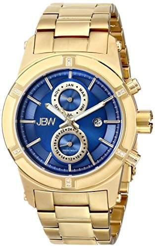 JBW Herren-Armbanduhr XL Strider Analog Quarz Edelstahl beschichtet J6263H