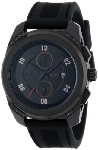 JBW Herren-Armbanduhr XL Mohawk Analog Quarz Silikon J6264C