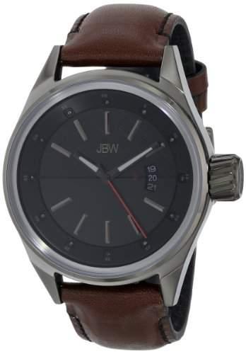 JBW Herren-Armbanduhr XL Rook Analog Quarz Leder J6287C