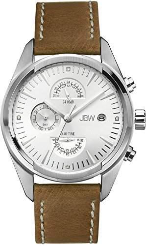 JBW Herren-Armbanduhr XL The Woodall Analog Quarz Leder J6300B