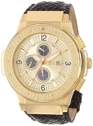 JBW Diamant Herren Edelstahl Uhr SAXON - gold