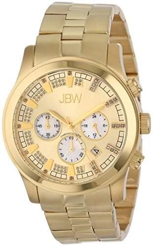 Just Bling Herren JB-6218-E Classic Gold-Tone Chronograph Diamond Watch