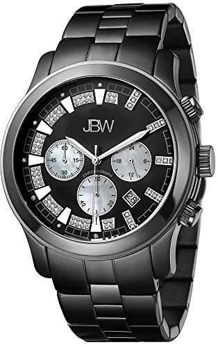 Just Bling Herren JB-6218-H Classic Black Ion Chronograph Diamond Watch