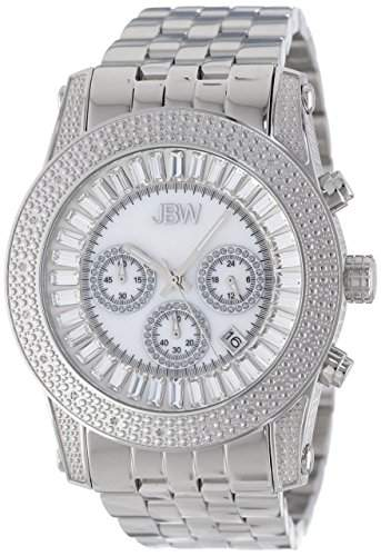 "Just Bling Herren JB-6219-A ""Python Sliver"" Stainless Steel Chronograph Diamond Watch"