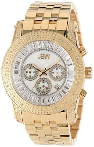 JBW Diamant Herren Edelstahl Uhr G4 - silber