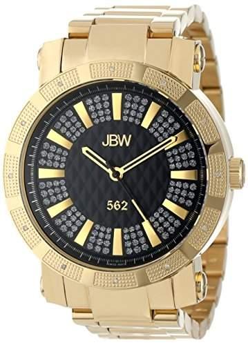 """Just Bling Herren JB-6225-C Staedtische Sammlung """"562"""" Pave Dial 18K vergoldeten Diamond Watch"""