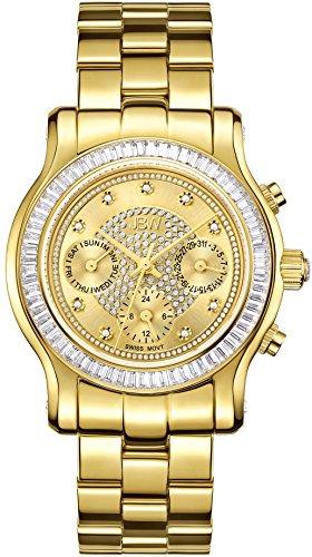 JBW Diamant Damen Edelstahl Uhr LAUREL Gold