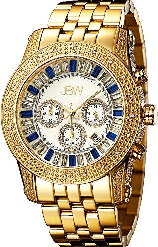 JBW Diamant Herren Edelstahl Uhr KRYPTON gold