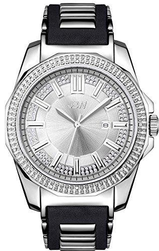 JBW Diamant Herren Edelstahl Uhr REGAL Silber