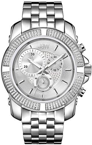 JBW Diamant Herren Edelstahl Uhr WARREN Silber