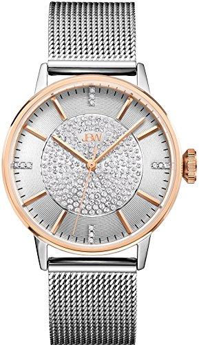 JBW Diamant Mesh Edelstahl Uhr BELLE rose gold silber