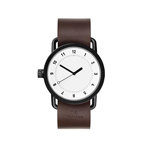 TID Watches Weiss Lederarmband Braun