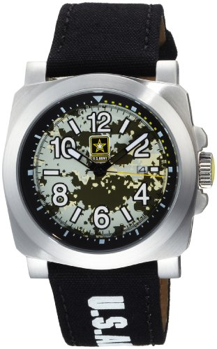 US Armee Herren INF 816 Infanterie Patriot Uhr aus Edelstahl