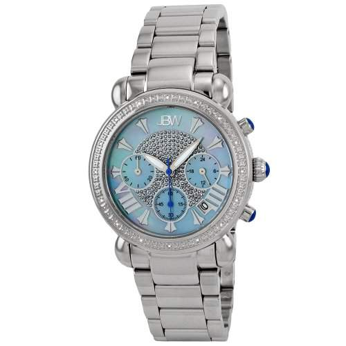 "Just Bling Ladies JB-6210-G ""Bronx Blue"" Stainless Steel Diamond Watch"