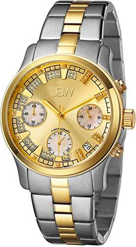 Just Bling Damen JB-6217-C Two-Tone Chronograph Diamond Watch