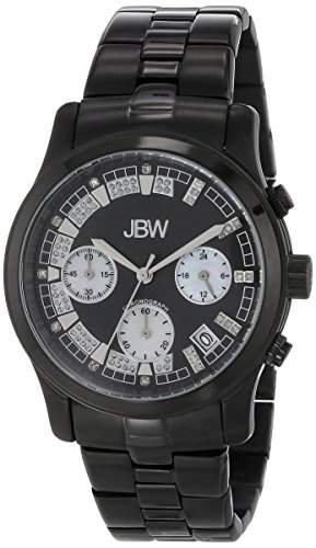 Just Bling Damen JB-H 6217-Schwarz-Ionen-Chronograph Diamond Watch