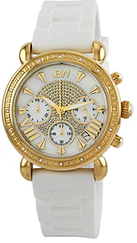 Just Bling Damen JB 6242 E Victory Sport Gold White Designer Silikon Diamond Watch