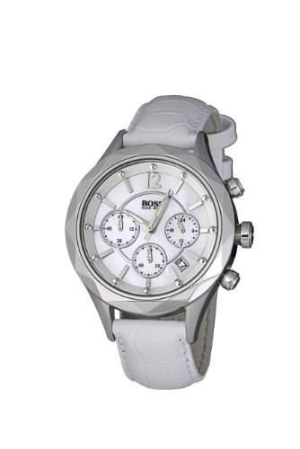 Hugo Boss Damen-Armbanduhr Ladies Iconic Chronograph Leder 1502167
