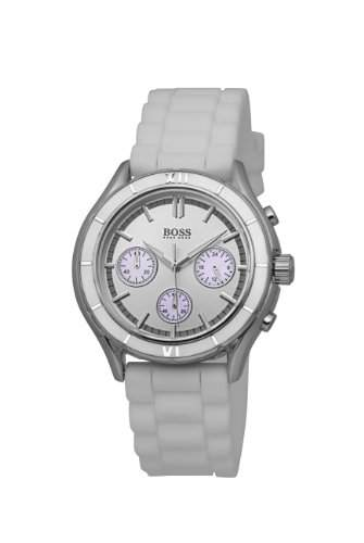 Hugo Boss Damen-Armbanduhr Ladies Iconic Chronograph Silikon 1502223