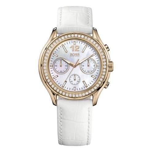 Hugo Boss Damen-Armbanduhr Chronograph Quarz Leder 1502261