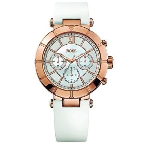 Hugo Boss Damen-Armbanduhr Chronograph Quarz Silikon 1502315