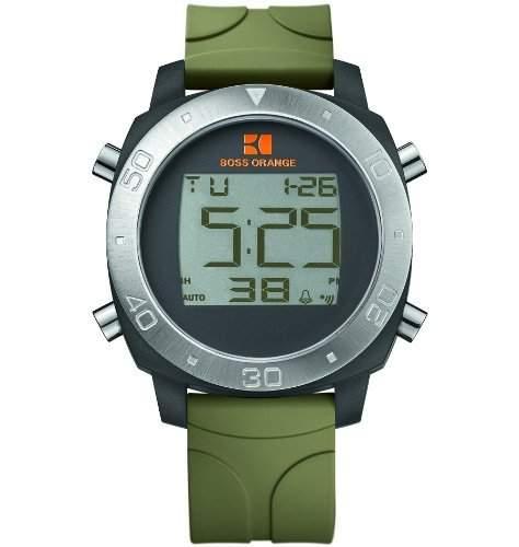 Hugo Boss Herren-Armbanduhr Digital Quarz Kautschuk 1512675