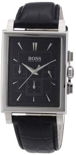 Hugo Boss Herren-Armbanduhr Chronograph Quarz Leder 1512849