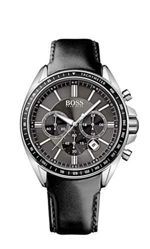 Hugo Boss Herren-Armbanduhr XL Chronograph Quarz Leder 1513085